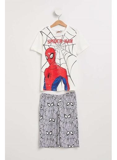 DeFacto Spiderman Lisanslı Pijama Takımı Beyaz